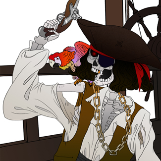 Skeletal Pirate Captain