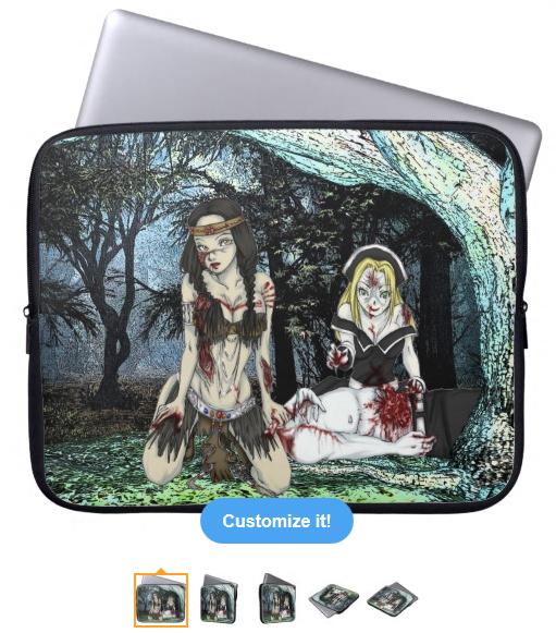 Kaliska & Chastity Laptop Sleeve