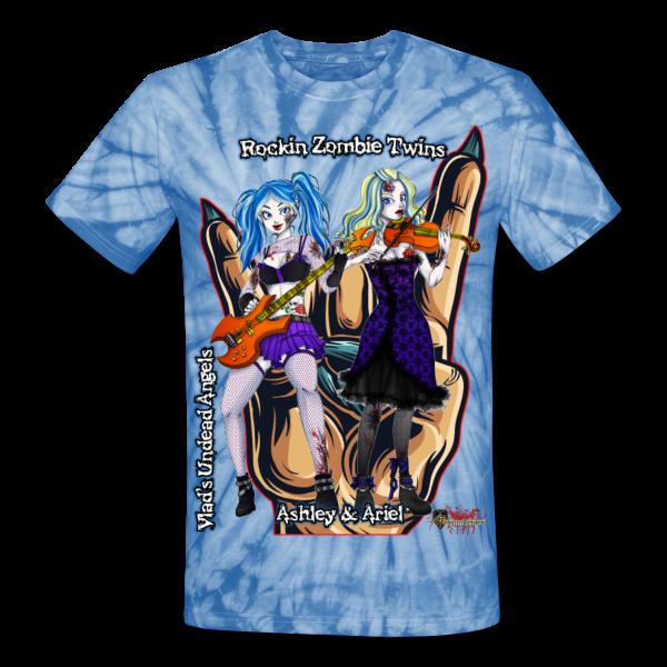 Rockin Zombie Twins Tie Dye by Enforcer Designs
