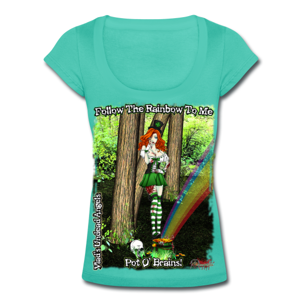 Zombie Fiona Woman's Scoop Neck Tee by Enforcer Designs