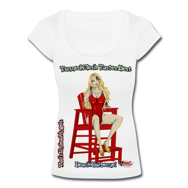 Zombie Shay Woman's Scoop Neck Tee by Enforcer Designs