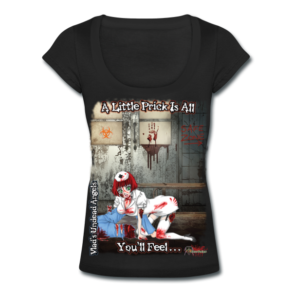 Zombie Abigail Woman's Scoop Neck Tee by Enforcer Designs