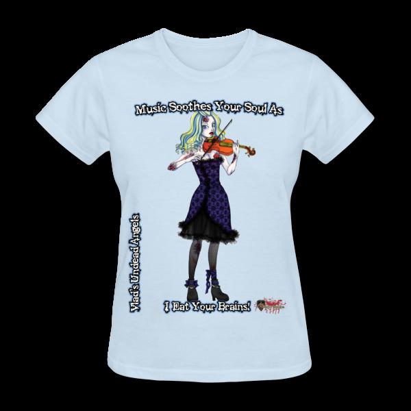 Zombie Ariel Woman's Tee by Enforcer Designs