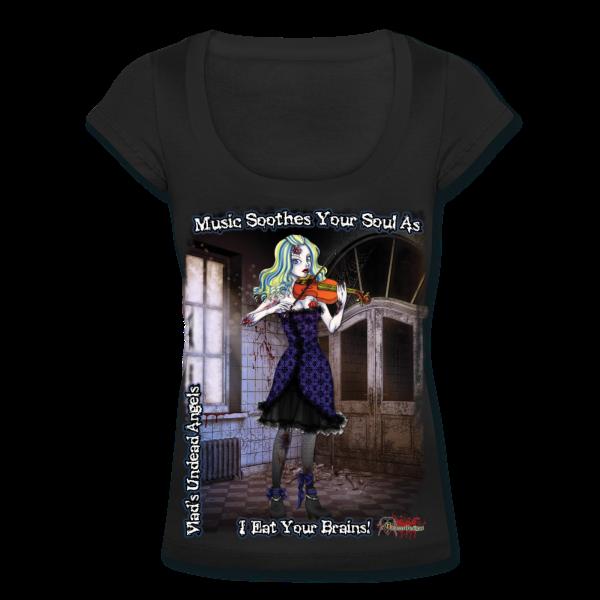 Zombie Ariel Woman's Scoop Neck Tee by Enforcer Designs