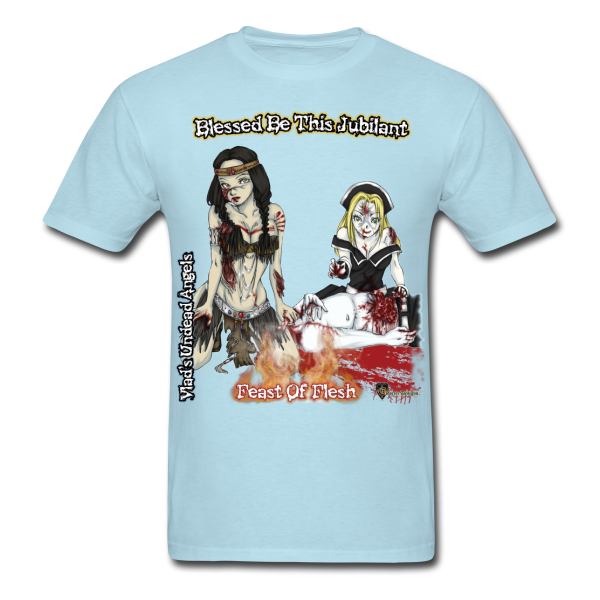 Blessed Be Zombie Thanksgiving Feast Men's Tee