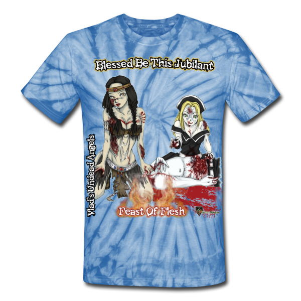 Blessed Be Zombie Thanksgiving Feast Tie Dye Tee