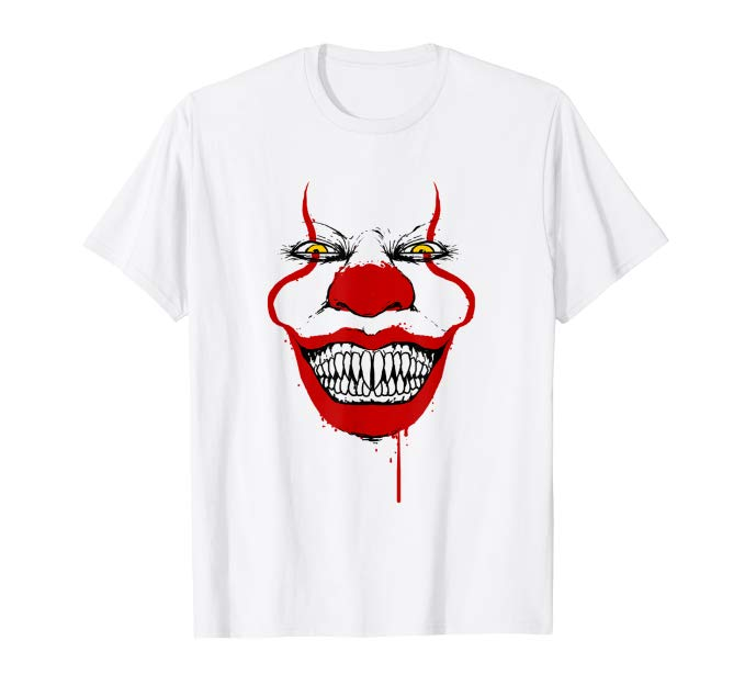 Horror Evil Clown Face Pennywise It