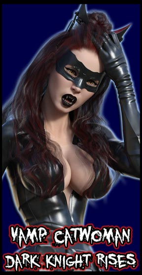 Vamp Catwoman:<br>Dark Knight Rises<br>Hathaway Catsuit