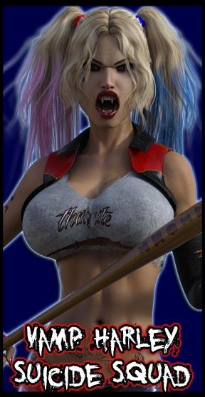 Vamp Harley Quinn:<br>Suicide Squad<br>Robbie Version