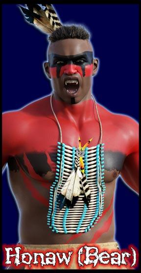 Honaw: The Bear<br> Vampire Native American Warrior