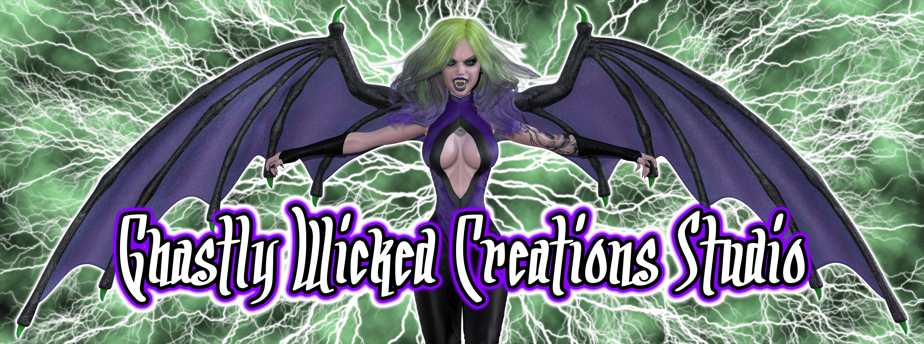 Ghastly Wicked Creations Studio Banner